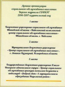 СОННЭТ Лучшее 2016-2017