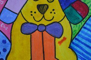 Символ года - Жёлтая собака. Рисунки победителей.